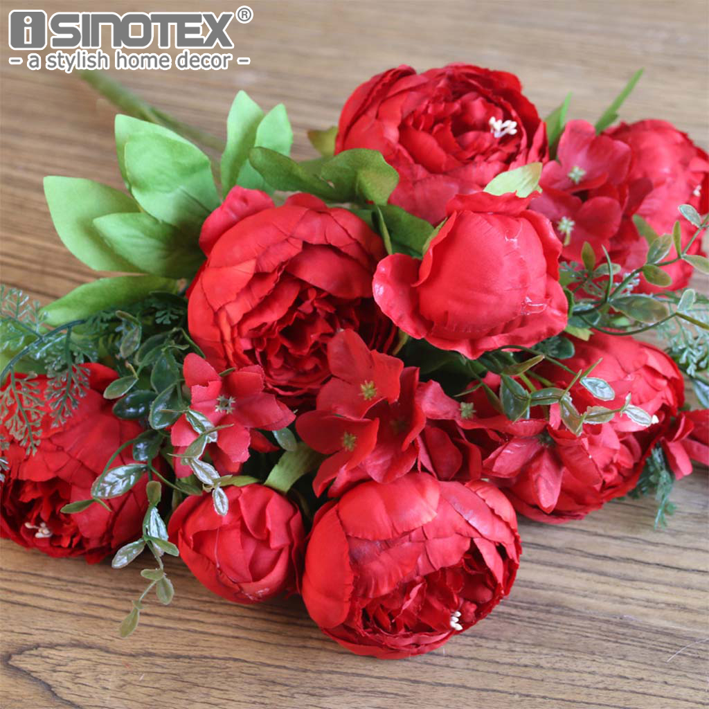 Peony Silk Artificial Flowers For Decoration Decorative Flowers