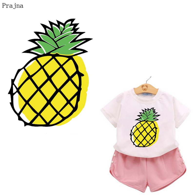 Prajna Heat Transfer Vinyl Iron On Transfer Patches For Clothes T shirt PVC Fruit Watermelon Patch Thermal Transfer Stickers DIY