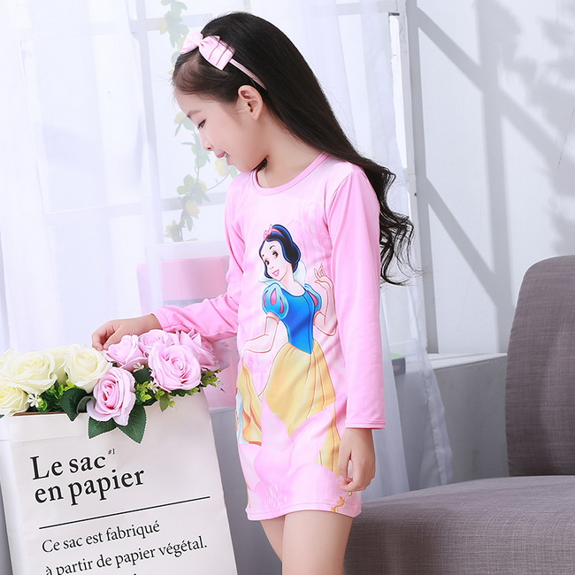 Special price Children Clothing Autumn Dresses Girl Baby Pajamas Cute Princess Nightgown Kids Home Cltohing Girl Sleepwear HH711