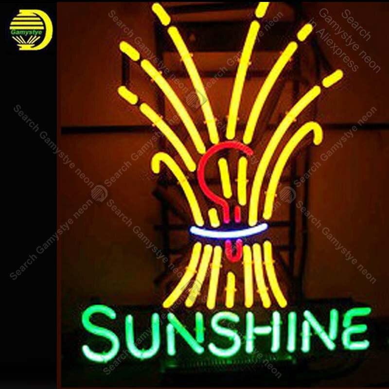 Güneş Logosu NEON ıŞıK BURCU Neon Burcu neon lambası GERÇEK CAM Tüp BEER BAR PUB Mağaza Ekran El Sanatları Ikonik Işareti kişiselleştirilmiş