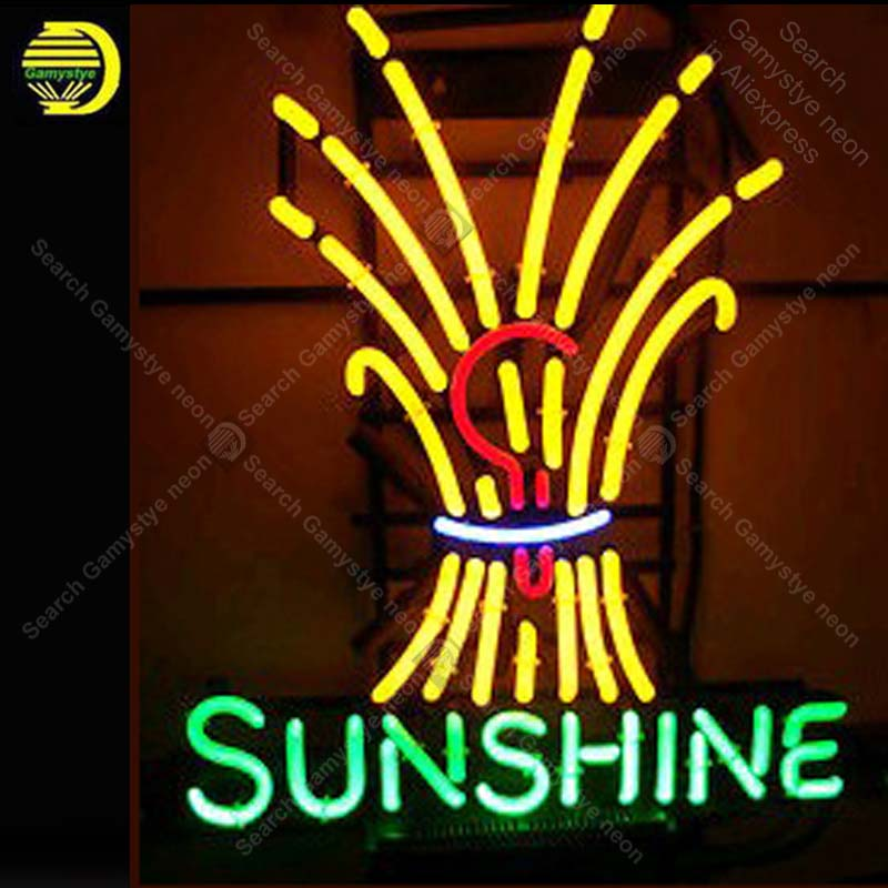 Sunshine Logo NEON LIGHT SIGN Neon Sign neon lamp REAL GLASS Tube BEER BAR PUB Store Display Handcraft Iconic Sign personalizedSunshine Logo NEON LIGHT SIGN Neon Sign neon lamp REAL GLASS Tube BEER BAR PUB Store Display Handcraft Iconic Sign personalized