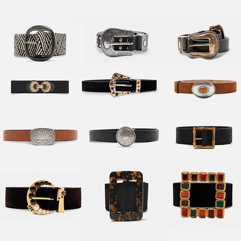 Miwens 2019 Za 23 Designs Long Belts Rivet Metal Acrylic Waistband Chain Women Wholesale Hot Sale Jewelry Buckle Embossed A675