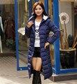 Jaket grosso alta qualidade X-longo sólida de algodão acolchoado 4XL jaqueta parka, casaco de inverno mulheres outerwear ocasional amassado jaqueta TT1349