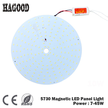 180-265V LED Panel Round 10W 15W 18W 20W 25W 35W 45W 5730 Magnetic LED Ceiling Panel Light Plate Aluminium Board for Home Room