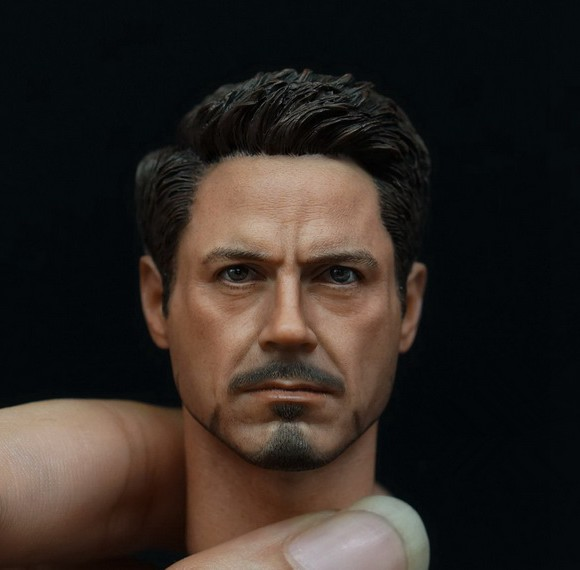 1/6 scale doll Accessory Iron Man Tony headsculpt Robert Downey Jr  head shape for 12 Action figure,Not included body,clothes 1 6 scale male head sculpts model toys downey jr iron man 3 captain america civil war tony with neck sets mk45 model collecti f