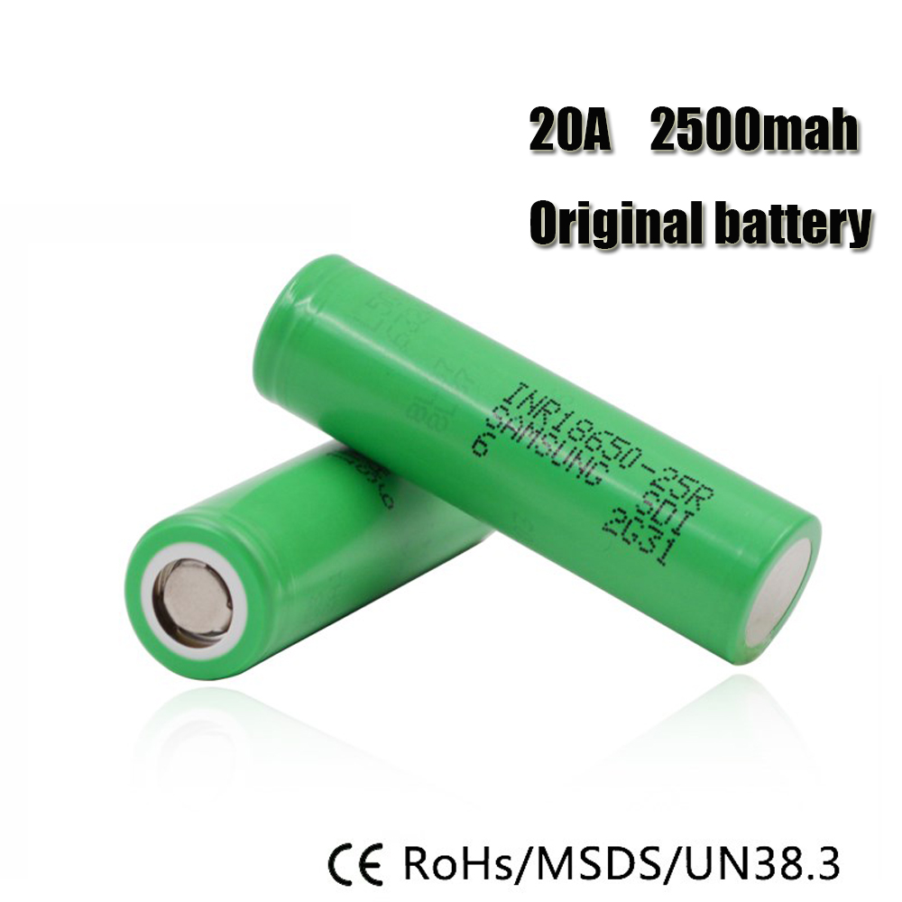 Wholesale 20PCS for Samsung Original 18650 25R INR1865025R 20A discharge lithium batteries, 2500mAh electronic cigarette Power  samsung inr18650-25r | Samsung INR 18650-25R Battery – MyFreedomSmokes Wholesale 20PCS for font b Samsung b font Original 18650 25R INR1865025R 20A discharge lithium batteries