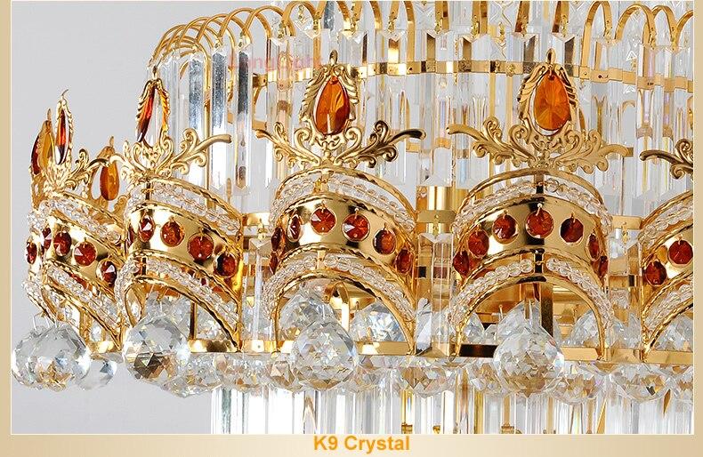 Led Kronleuchter Xiaomi ~ Glanz treppen kronleuchter k9 gold kristall kronleuchter moderne led