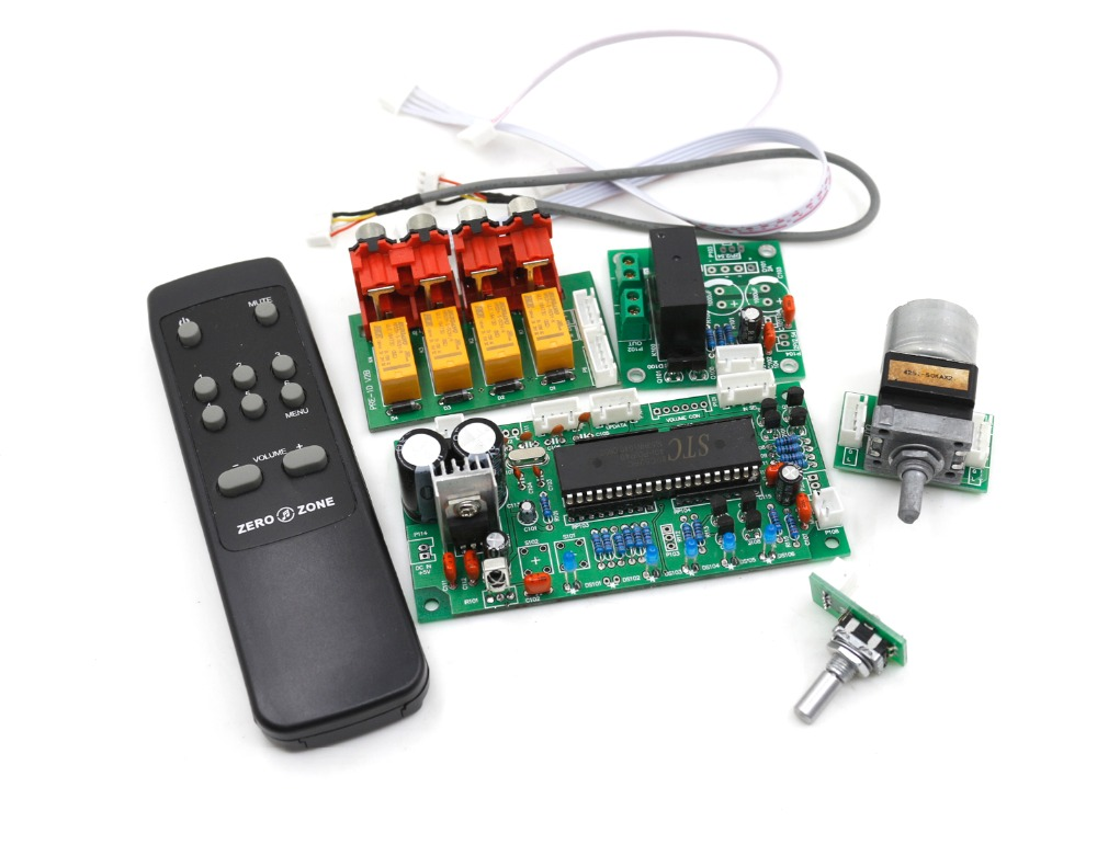 GZLOZONE Remote ALPS Motor Volume Control Preamplifier Board + Standby Board free shipping 6 way m62446 5 1 channel volume remote control preamplifier kit for dc motor use
