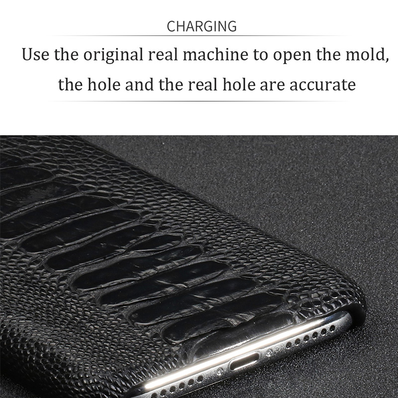Natural Ostrich Leather For Huawei p30 pro high end leather phone case for Huawei p30 Lite p20 pro p20 fall protection sleeve - 4