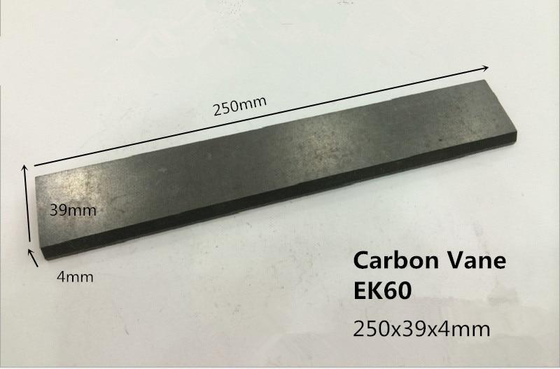 250x39x4mm    EK60 carbon vane     for Becker KVT3.100 vacuum pump  /    graphite rotor ,pump blades 6 48 230 mm carbon vane for vacuum pump graphite plate block for vacuum pump becker