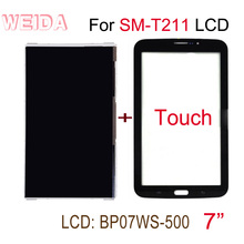 WEIDA LCD Replacment 7 For Samsung Galaxy Tab 3 7.0 SM-T211 Display Touch Screen Replace Separately t211 BP07WS-500