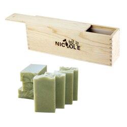 De silicona jabón molde alto y flaco molde para el pan con la caja de madera para bricolaje Natural fabricación artesanal de jabón herramienta