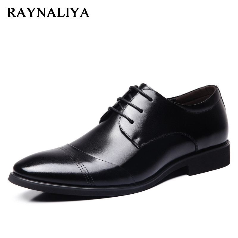 Men Wedding Soft Leather Black Lace Up Pointed Toe Shoes Italian Luxury Designer Business Office Mens Dress Shoes BH-B0032 choudory new winter men ankle italian shoes men leather shoes pointed toe mens black dress shoes sequined toe spiked loafers men