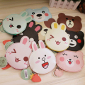 YOUYOU MOUSE Cartoon Style Coin Purse PU Leather Coin Case Cute Creative Animal Prints Pattern Key Case Small Wallet For Coins