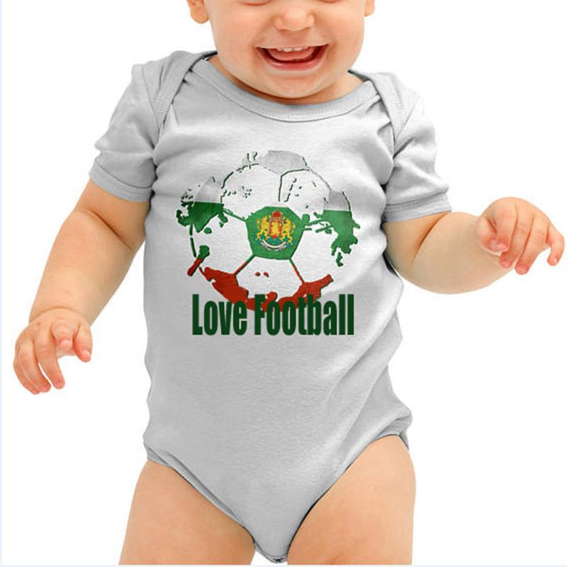 Baby Unisex Rompers 2Color Football Print Letter Onepiece Summer O-neck Short Sleeve Casual Clothes For Boys Girls 18Apr23