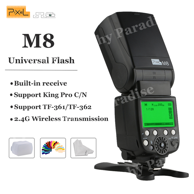 Pixel M8 2.4G Wireless Transmission with Built-in receive Universal Flash Speedlite For Canon Nikon Sony VS YN560 III JY680A