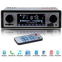 Car Stereo FM Retro Radio 12V Bluetooth MP3 Car Player Hands free Bluetooth MP3 Player Radio with USB and SD Car Radio Player