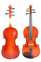 4/4 5 String Violin Solid Flame maple Spruce With Violin Case Bow Professional Sound