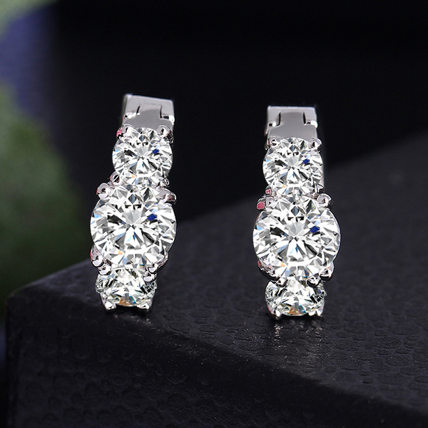Luxury Gold Plated Crystal Zircon Earrings
