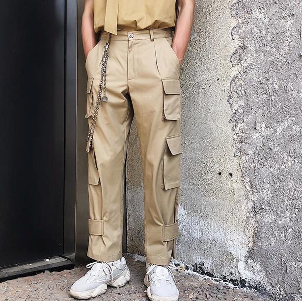Y Multicolor Caliente Pierna Verano Herramientas Recta Casual Pantalones Masculinos Algodón Hombres Moda Primavera Bolsillo Ancha Nuevos De Coreano Coffee Tendencia SCwCR1q5T
