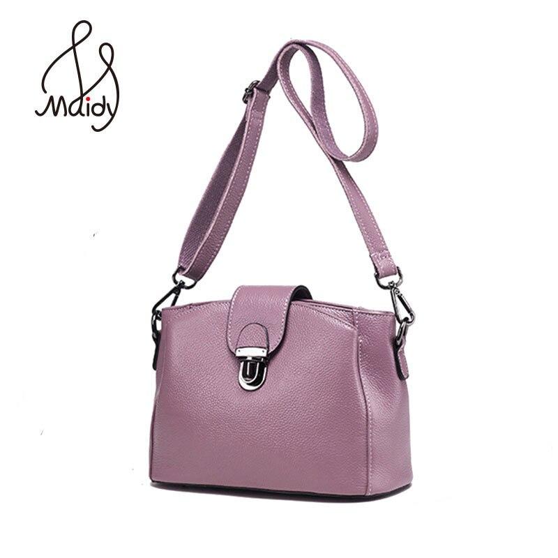 Luxury Women The First Layer Cowhide Leather Handbags Clutch Crossbody Envelope Bags Satchel Messenger Lock Flap Shoulder Maidy