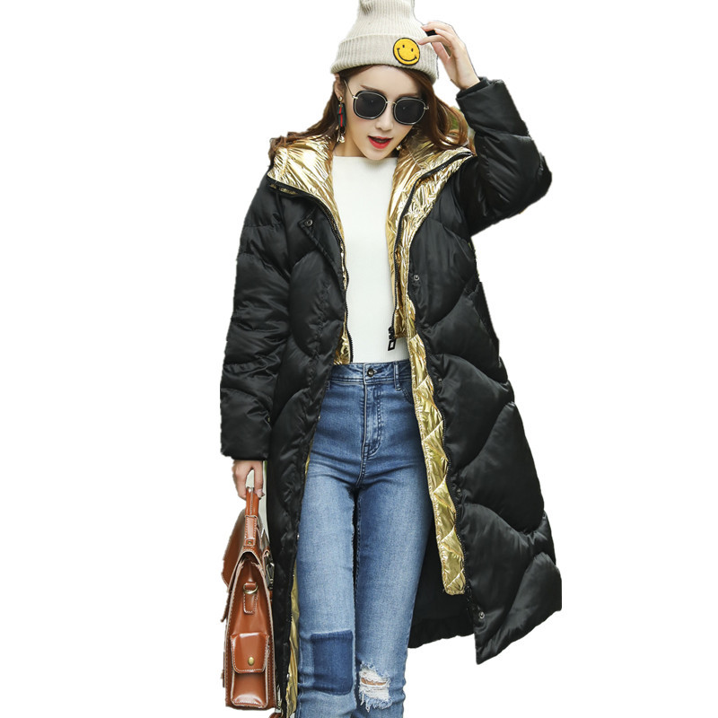 Fashion Winter Hooded Down Cotton Warm Parka Casual High Quality Womens Jackets Solid Color Chaquetas Mujer Padded Coat TT3425 thick down cotton hooded jacket women high quality parka casual manteau femme hiver fashion warm womens winter jackets tt3412