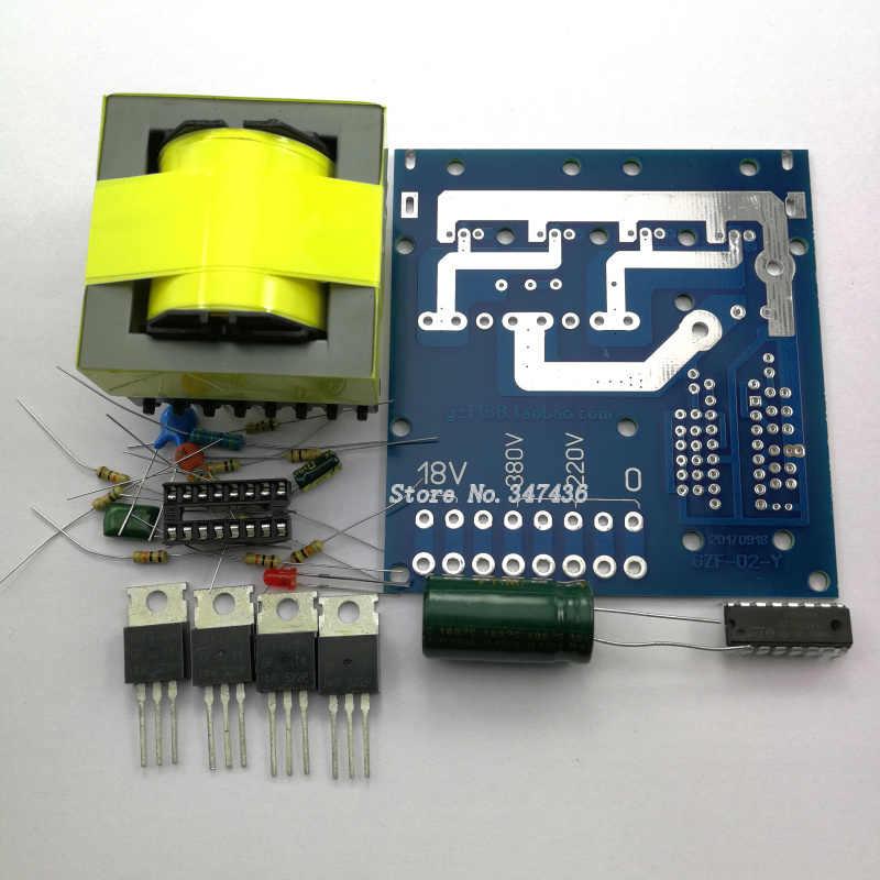 DC 12V to AC 220V380v18V500W inverter circuit board, simple inverter DIY Kit