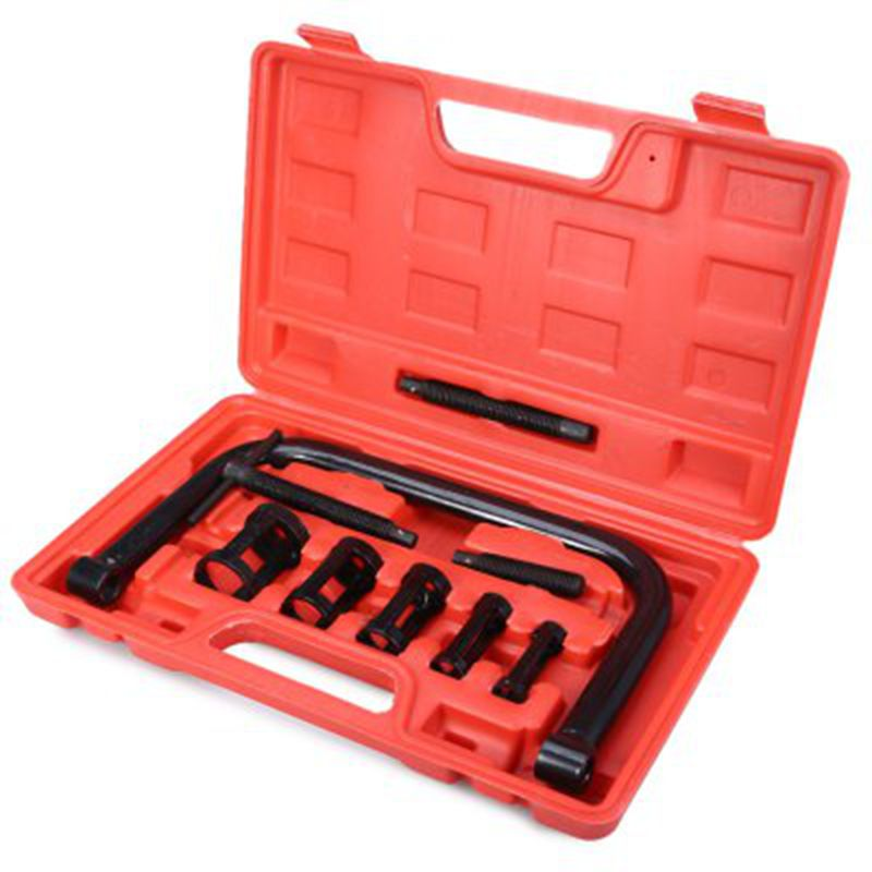 High Quality 9pcs Universal Valve Clamps Spring Compressor Car Repair Tool Set Car Valve Spring Clamp