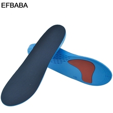 EBABA Pu Sports Insoles Foot Arch Support Sweat Absorbent Breathable Damping Insole Men Women Shoes Pad Orthopedic Shoes Insoles
