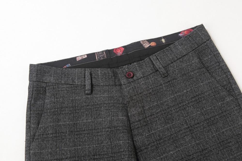Мужская мода брюки плед серый 2016 случайных мужских брюк мужчины длинные брюки случайный masculina размер 29-40