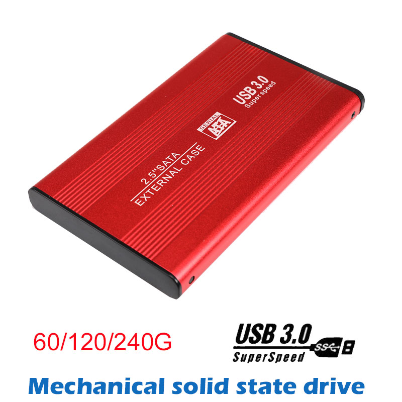 2018 New Portable Aluminum Alloy Solid State Drive 60G/120G/240G USB3.0 270MB/S SSD External Hard Drive For Laptop PC pechoin 120g 60g