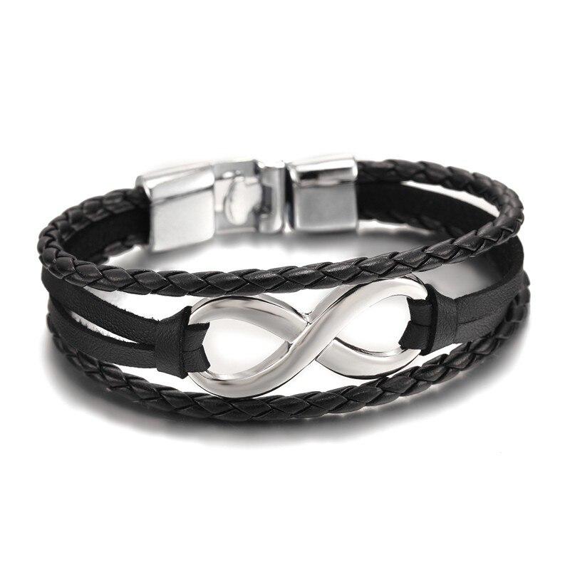 Großhandel New Fashion Schwarz plattiert Infinity Armband Echt - Modeschmuck - Foto 3