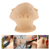 Two Sided Silicone Face Scalp Massage Eyelash Extension Makeup Practice Training Mannequin Make Up Head Painting Manikin Doll