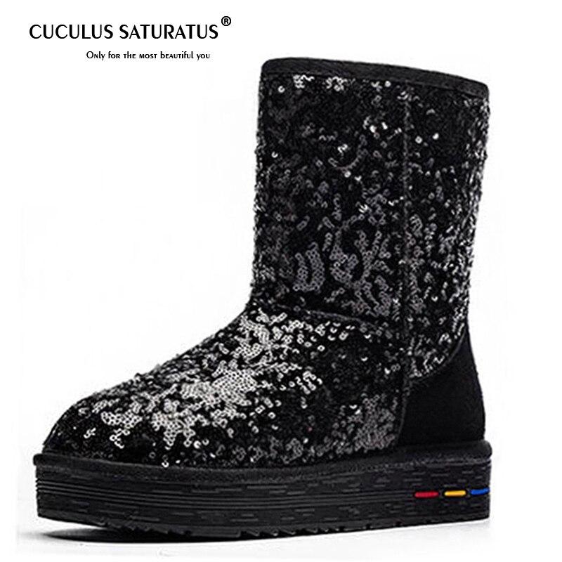 Cuculus großhandel Australien Klassische Frauen Schnee Stiefel Frauen Kuh Wildleder Winter Klassische stiefel 5827