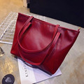 2016 new Black Casual Women Shoulder Bags PU Female Big Tote Bags for Ladies Handbag Large Capacity sac a main femme de marque