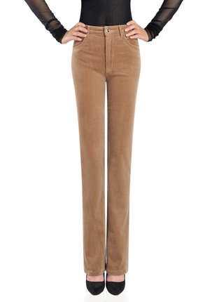 Free Shipping Women's Autumn Corduroy Boot Cut Pants Female Mid Waist Business casual Candy Color flares Corduroy Trousers A3100 free shipping mimco classico mid pouch claret color