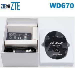 Lot of 1000pcs ZTE Hotsale 150Mbps WD670 WI POD Portable 4G LTE Pocket WiFi Router