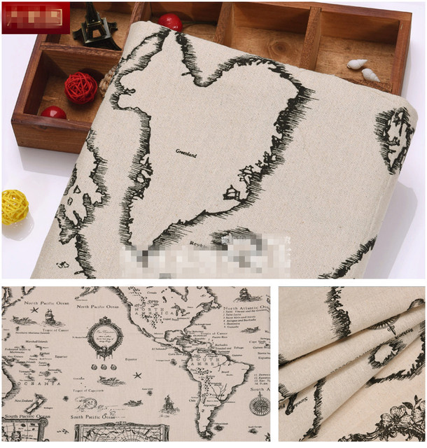 150100cm world map cotton linen fabric for diy sewing dress 150100cm world map cotton linen fabric for diy sewing dress patchwork quilting textile tablecloth gumiabroncs Gallery