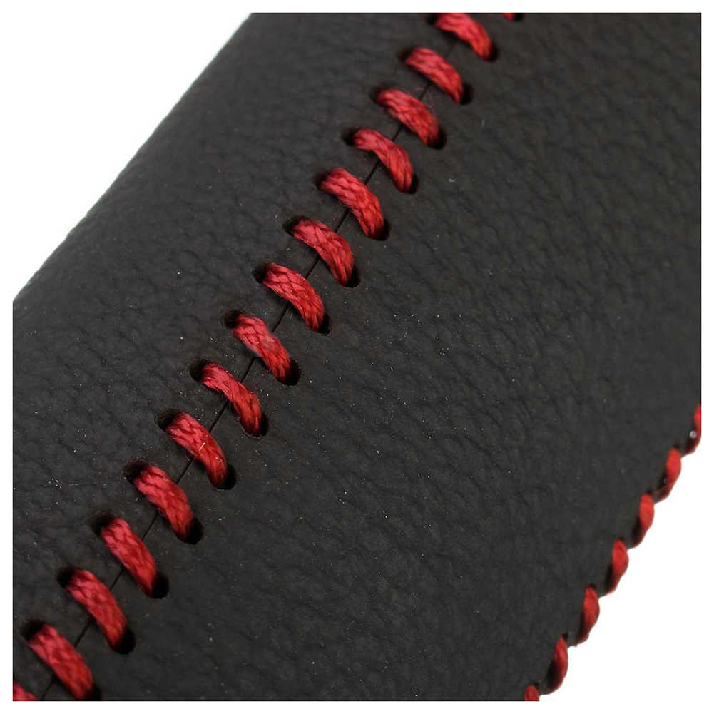 Leather Hand Brake Cover Protective Sleeve For Honda // Accord // Civic 8 SODIAL Black red line R