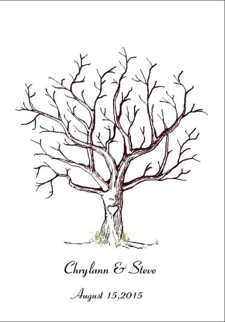 Bridal Shower Fingerprint Tree