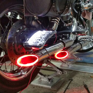 1Set Motorcycle LED Light Red Motorbike Exhaust Pipe Lamp Warning Firing Indicators Scooter Refit Torching Thermostability Light(China)