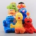 Высокое Качество 7 Стилей Улица Сезам Elmo Cookie Берт Гровер Большая Птица Чучело Плюшевые Игрушки Куклы для Детей Подарок На День Рождения