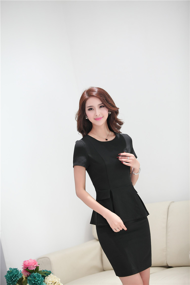 New Professional Skirt Suits With Topini Summer Slim Fashion Short Sleeve Female Business Women Casual Outfits In From S