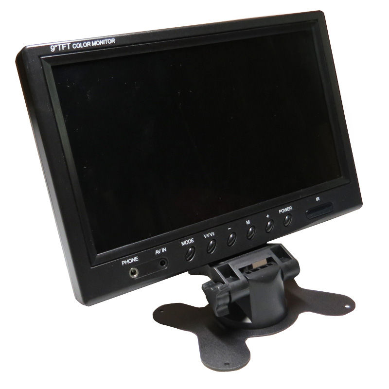 ФОТО 2 Channel 4PIN DC 12V-24V 9 inch Color Screen Rear View Reversing Car Monitor For Car Truck Bus Van Trailer