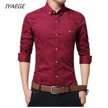 Hot Sale 2016 New Fashion Print  Men  Shirt Pure Cotton Casual Long Sleeve Shirt Han Edition Slim Fit Shirt Mens Clothes 5XL