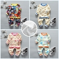 Children's Set 2016 Autumn / Winter Cotton Fashion Casual cartoon Plus velvet thick warm Baby Suit 1-4 year-old  Boy / Girl Suit