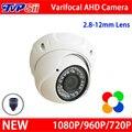 4 unids Mucho Nuevo Metal Caso 36 unids Leds infrarrojos 1080 P/960 P/720 P 2.8mm-12mm Lente Zoom Domo AHD CCTV Cámara de Seguridad El Envío Libre