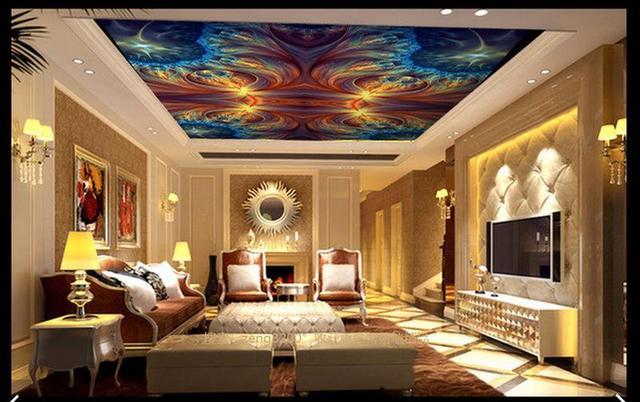US $26.2 |Kundenspezifische 3d decke tapetenwandbilder 3d tapete Traum  atmosphärischen abgehängte decke wandbilder 3d wohnzimmer fototapete in ...