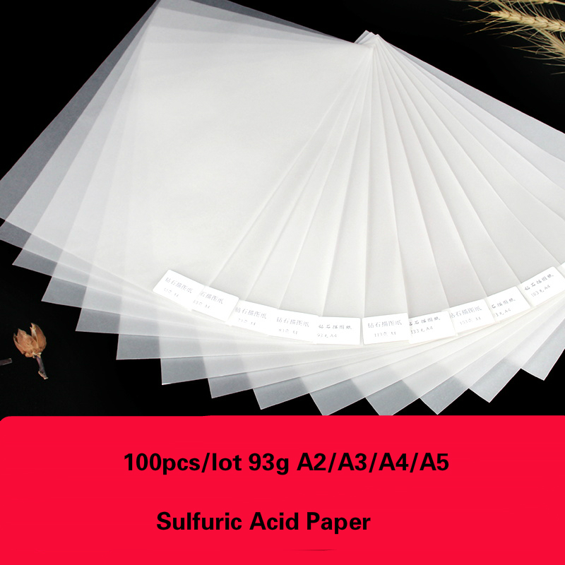 100 Sheets 93g A2/A3/A4/A5 Transfer Paper Sulfuric Acid Paper Tracing Papel Calligraphy Linyi Sketch Drawing DIY Painting Paper