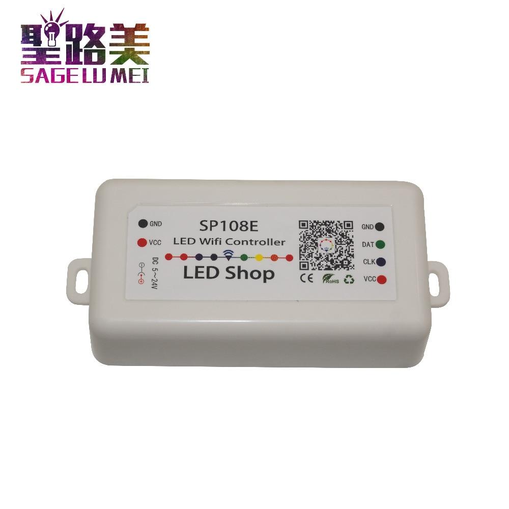 DC 5V 12V 24V SP108E LED WIFI Controller SPI pixel controller phone APP iOS Android For WS2811 WS2812 WS2813 LED Strip Light DC 5V 12V 24V SP108E LED WIFI Controller SPI pixel controller phone APP iOS Android For WS2811 WS2812 WS2813 LED Strip Light